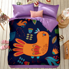 Creative magic cartoon Bedding set 100% cotton bed set morder brief duvet cover + bed sheet + pillowcase chicken starfish home
