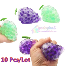 10Pcs/Lot Kawaii Squishy Grapes Ball Phone Straps Bread Cake Charm Fruit Stretch Scented Squeeze Soft Slow Rising Kid Toys Gifts(China)