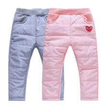 Autumn Winter Kids Fleece Pants Casual Sport Elastic Waist Warm Boys And Girls Comfortable Trousers Children's Clothing(China)