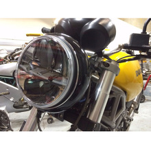 "7"" Motorbike Round Headlamp For Harley Touring 1994~2013 Yamaha V Star 1100 Classic 7 Inch Daymaker Projector LED Moto Headlight(China)"
