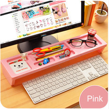 DIY table storage box 2016 trade high quality creative computer table storage box cellphone / pen / cosmetics storage shelves(China)