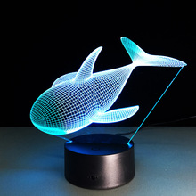Creative Gifts whale Lamp 3D Night Light Robot USB Led Table Desk Lampara as Home Decor Bedroom Reading Nightlight