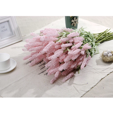 12 Heads Purple Color Pink Color Lavender Artificial Decoration Flower For Home Car Wedding Use