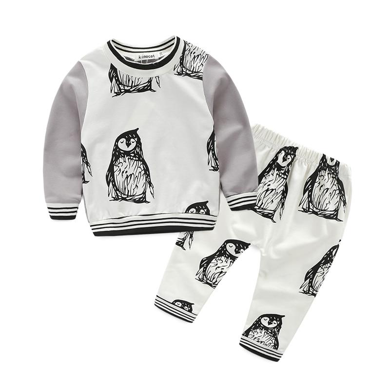 new style baby boy clothes cute pattern penguin t-shirt+ pants bebek giyim<br><br>Aliexpress
