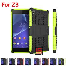 Sport Armor Rugged Hybrid Heavy Duty Hard PC TPU ShockProof Phone Mobile Phon Case Cover Bag For Sony Xperia Z3 D6643 Dual Red