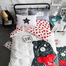 love bear comfortable high quailty 100% Cotton summer autumn cute bedding sets give your love children twin size(China)