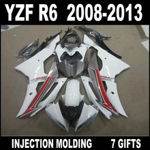 100% fit injection molded for YAMAHA R6 fairing 2008 2009 - 2013 white red gray black fairing kit 08 09 10 11 12 13 YZF R6