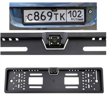 For European License Plate Frame Rear View Camera Auto Car Reverse Backup Parking Rearview Camera parking assistance system