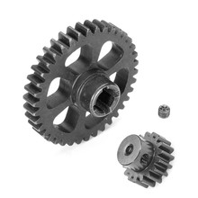 Upgrade Part Metal Reduction Gear + Motor Gear Spare Parts For Wltoys A949 A959 A969 A979 K929 RC Car Remote Control Toy Parts(China)