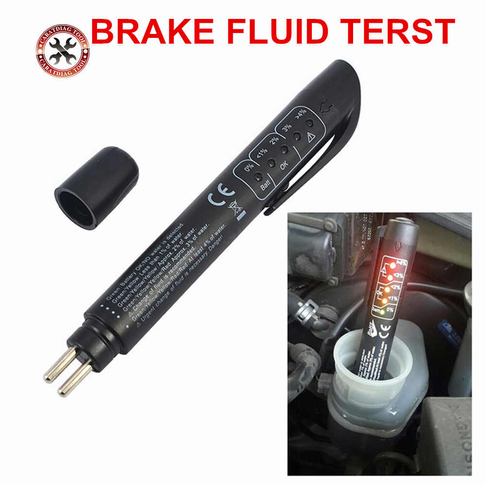 New Best Brake Fluid Tester LED Car Vehicle Auto Automotive Testing Tool fluid tester Car Brake Fluid Tester Pen in stock