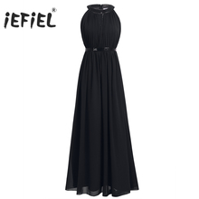 Buy iEFiEL Beauty Women Ladies Chiffon Halter Bridesmaid Long Daily Prom Gown Dresses Elegant Women's Summer Formal Dress for $21.99 in AliExpress store