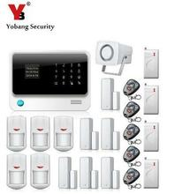 YobangSecurity Intruder WIFI GSM Alarm Systems Security Home Android IOS APP Control PIR Detector Door Shock Sensor(China)