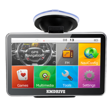 KMDRIVE 5 Inch Auto Car GPS Navigation Sat Nav 4GB latest Maps WinCE 6.0 FM support Multi-languages(China)