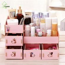 YIHONG Manufacturers seek show Seoul new large A1047 desktop wooden box cat DIY cosmetic storage box.