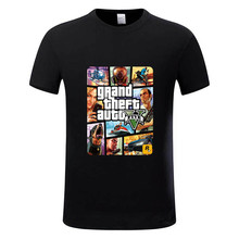 Grand Theft Auto GTA T Shirt Men Street Long with GTA 5 T-shirt Men and Women Famous Brand TShirt Children Tops Tees GTA5,GMT005(China)