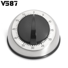 60-Minutes Dome Shape Kitchen Timer Stainless Steel Countdown Mechanical Wind Up Alarm Clock Home Kitchen Cooking Tools