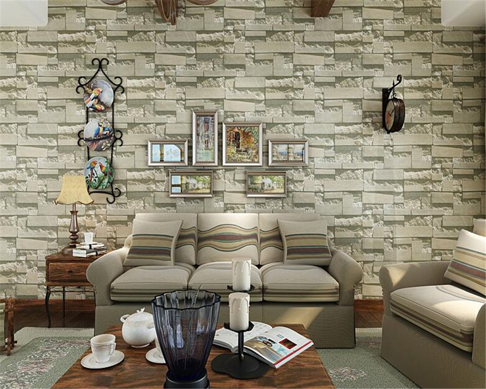 Beibehang  imitation brick wallpaper clothing store decoration 3d wallpaper background wallpaper for walls 3 d papel de parede<br>
