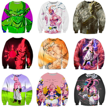 Classic Anime Dragon Ball Z 3D Sweatshirt Goku/Majin Buu Print Crewneck Pullovers Women Men Outerwear fashion Jumper 21 style