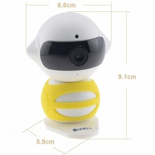 Q1R0 Model WIFI IP Camera Brand Night Vision Security Camera Hd 1.3mp IR Range 5m Mini Robot Indoor Home Office Wifi 960p(China)
