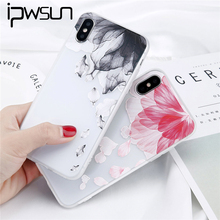 Buy iPWSOO iPhone 6 6s 7 8 Plus X Phone Case Fashion Relief Cute Cartoon Beautiful Flower Leaf Soft Silicone TPU iPhone 8 for $1.33 in AliExpress store