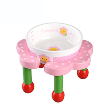 Washable Pet Products For Small Dog Japanese Pet Ceramic Bowl Petals Small Dogs Food Bowl Dog Cat Cute Bowl BBMYX11