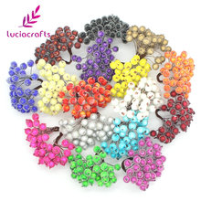 Lucia Crafts 1 bouquet( 40heads) Artificial Fruit Berries Flower Stamen Wedding Party Decor DIY Scrapbooking Material 027023002(China)