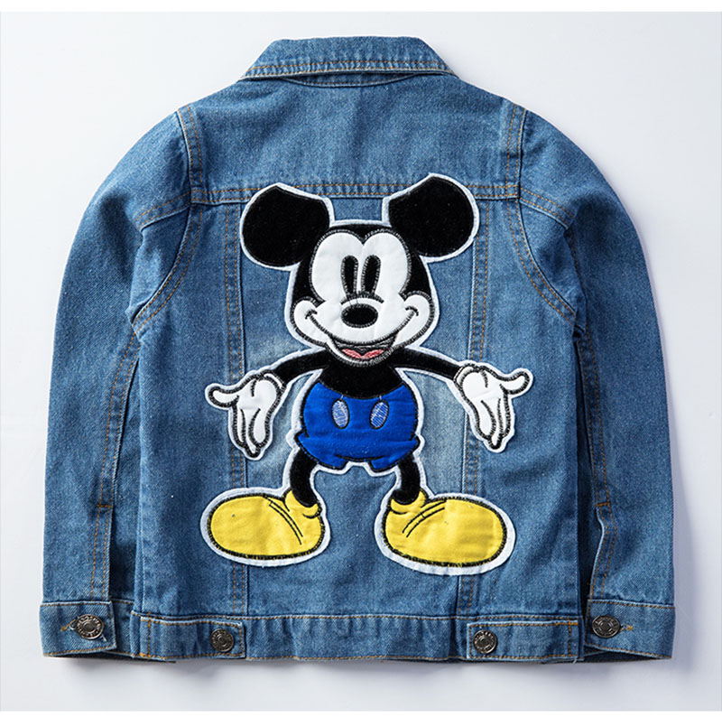 19 Mickey Denim Jacket For Boys Fashion Coats Children Clothing Autumn Baby Girls Clothes Outerwear Cartoon Jean Jackets Coat 10