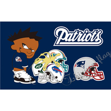 New England Patriots flag custom Buffalo Bills Dolphins Jets design with bad kids 90x150cm indoor or outdoor banner(China)