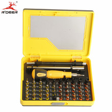 RDEER 53 in 1 Precision Screwdriver Set Magnetic Electronic Multipurpose Screwdriver CR-V Screwriver Phone PC Repair Tools Kit(China)