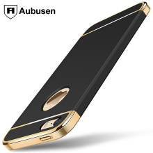 For IPhone 5 5S SE Phone Case,Aubusen Luxury 3-in-1 Shockproof Frosted Shield Hard Back Cover For IPhone 5 5S S(China)