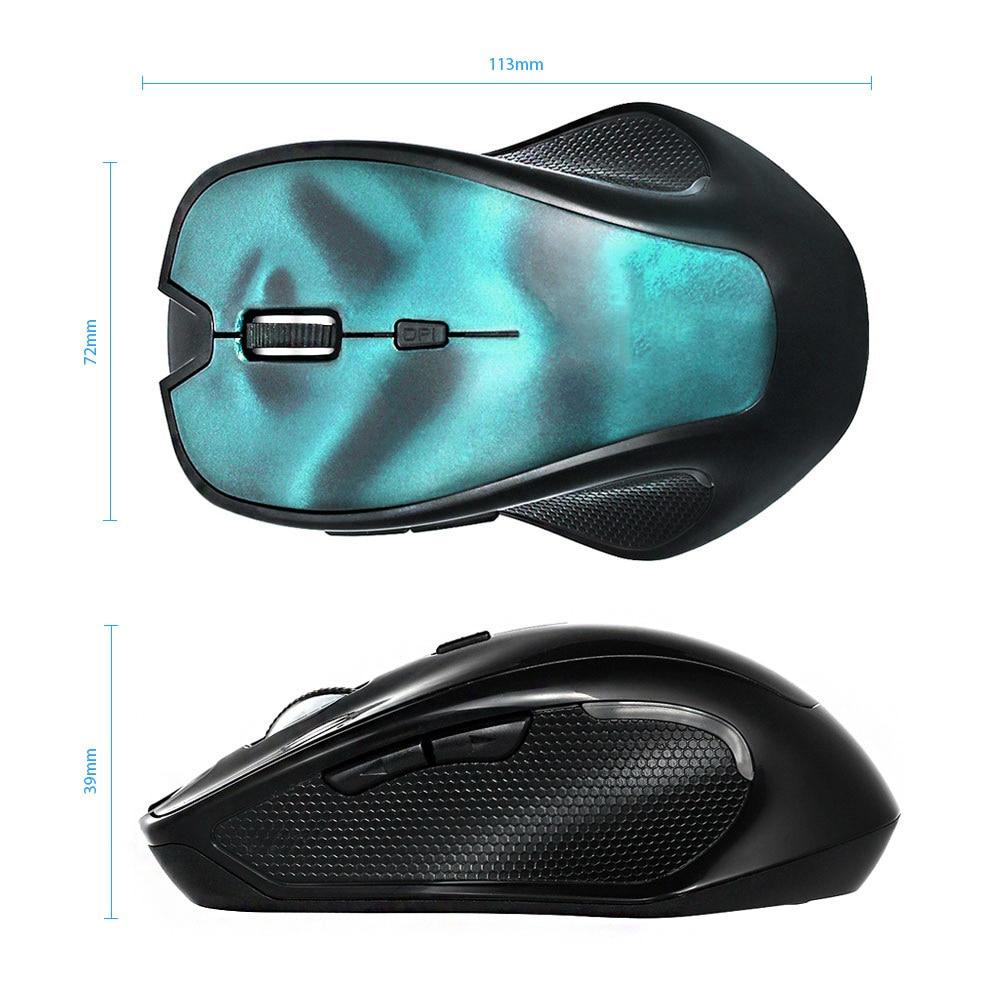 MEMTEQ Wireless Mouse 2.4G Laptop Bluetooth 3.0 3D Mouse Professional Gaming Optical 1600DPI Mice for Tabelt PC Desktop Blue