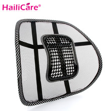 Hot! Car Seat Office Chair Back Cushion Back Lumbar Massage Black Mesh Ventilate Cushion Pad Pain Relief Seat Posture Corrector(China)