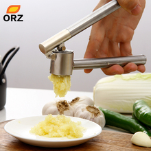 ORZ Stainless Steel Garlic Aqueeze Kitchen Squeeze Tool Alloy Ginge Crusher Garlic Presses Kitchen Accessories(China)