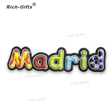 Free Customized OEM/ODM Promotional Gifts With Your Logo Magneto Fridge Magnets Gift Items Souvenir Madrid 1000PCS/Lot (RC-ES)