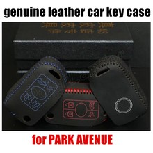 handmade Genuine Leather Car Key Cover Hand Sewing Key Case fit for BUICK PARK AVENUE high quality hot sale