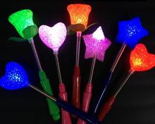 LED flashing light up sticks glowing rose star heart magic wand party lighted Concert carnivals Props Children Favors gift