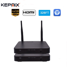 100M Wireless HDMI Extender 2.4GHz/5GHz HD 1080P HDMI 1.3 for HDTV 3D WiFi HDMI Sender Transmitter Receiver Support HDCP1.4(China)
