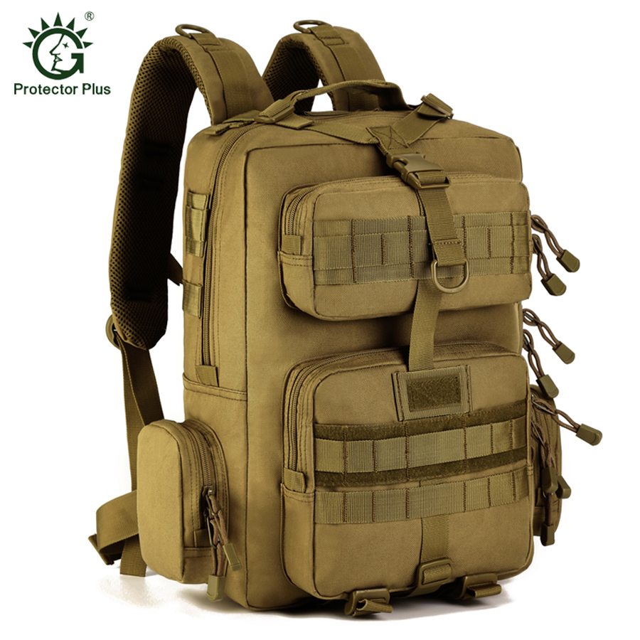 Protector Plus MOLLE Military Tactical Backpack Outdoor Climbing Bags Waterproof Travel Rucksacks Mens Sport Hiking Bags<br>