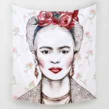 Comwarm Great Mexico Painter Frida Kahlo Pattern Tapestry Polyester God's joke Wall Hanging Beach Picnic Yoga Rug Home Decor Art