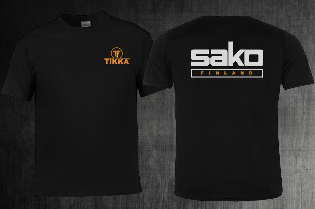 Limited !! Neu TIKKA by SAKO Firearms Company Logo T Shirt S-5XL