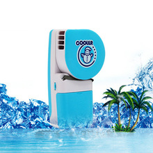 Glantop Mini Portable Hand Held Air Conditioner Cooler Fan Runs On Batteries Or USB