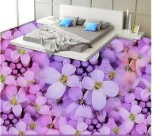 Buy 3D wall murals wallpaper floor self-adhesive 3D purple warm floor PVC waterproof floor Home Decoration for $27.00 in AliExpress store