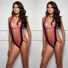 2017 Sexy One-Piece Lingerie Chemise Teddy Babydoll Night Dress Wild Women's Lingere babydoll Underwear Skirt T-back Nightwear
