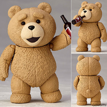 Movie #006 TED 2 Teddy Bear PVC Action Figure Collectible Model Toy 10cm(China)