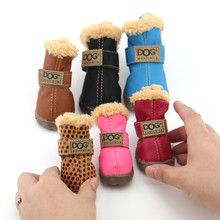 Working Dogs Winter Snow Boots Casual Dog Shoes Pet Shoes for Teddy Bichon Kitten Dachshund Cocker Spaniel Husky German Shepard(China)