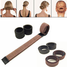 New Fashion Women Hair Accessories New Bun Hair Band Hair Twist Styling Braid Tools(China)