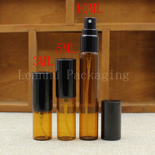 3/5/10ml Brown Glass Spray Bottle,Essential Oil/Toner/Perfume Packaging Bottle,Empty Cosmetic Container (Free Shipping)