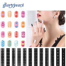 1pc Random 42 Design Selected Flower Form Pattern Stencil Women Manicure Fingernail Nail Stamp Polish Stamping Nail Art Template