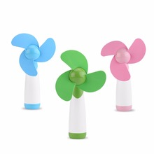 1Pcs Portable Handheld Mini Cooling Cool Fan Super Mute Two AA Battery Operated for Home Office Travel Blue Green Pink(China)