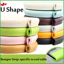2M Long U Shape Glass Table Corner Guards Strip,8 Colors Edge Protector For Kids Security,Protection For Children Safety K-SA001(China)